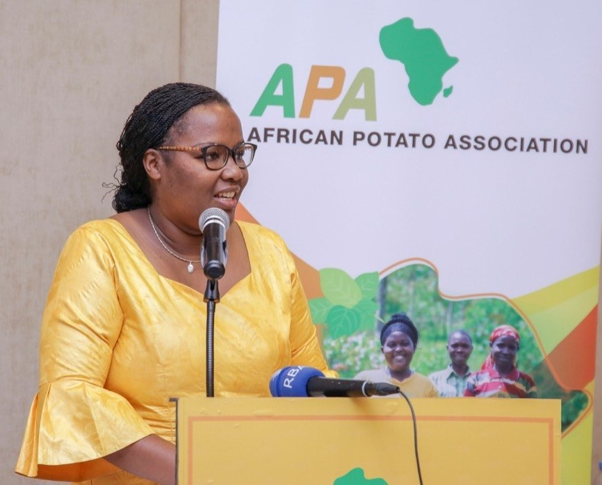 Rwanda Minister of Agriculture and Animal Resources Dr Gerardine Mukeshimana