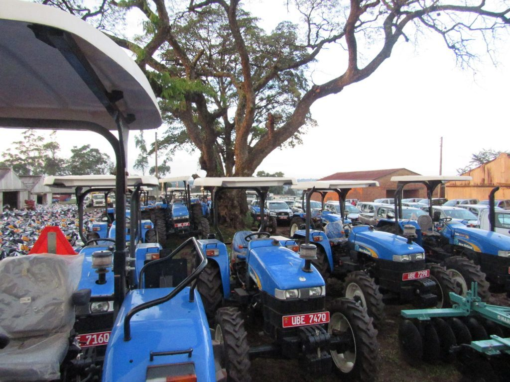 Extension officers tractors