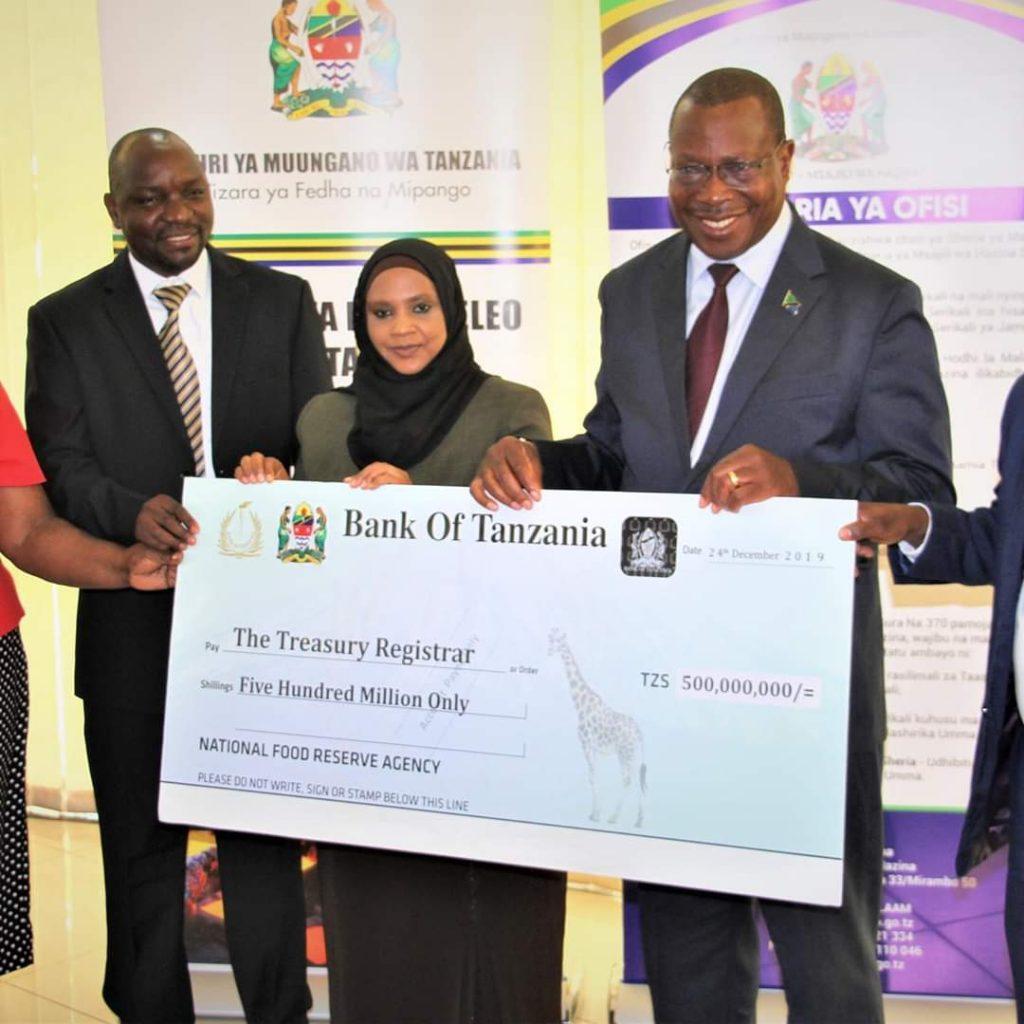 Tanzania -Wakala wa Taifa wa Hifadhi ya Chakula (NFRA) kutoa  shilingi milioni 500 kwa serikali 1