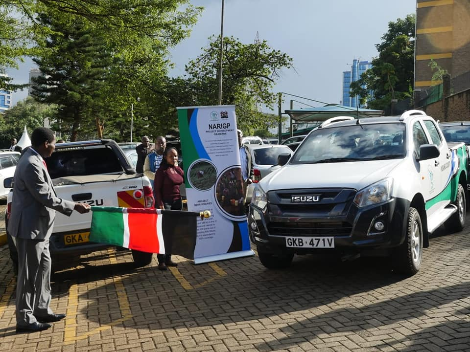 NARIGP vehiclew flag off
