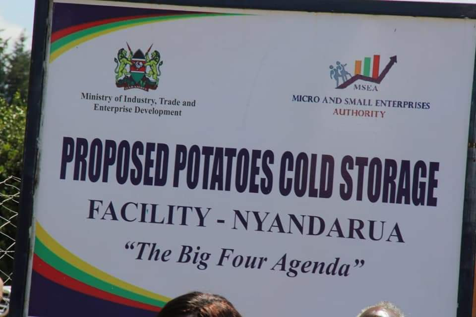 Potato cold storage & processing factory construction starts in Nyandarua 1