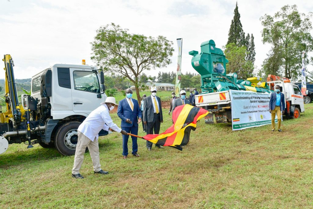 President Museveni flags off value addittion equipment