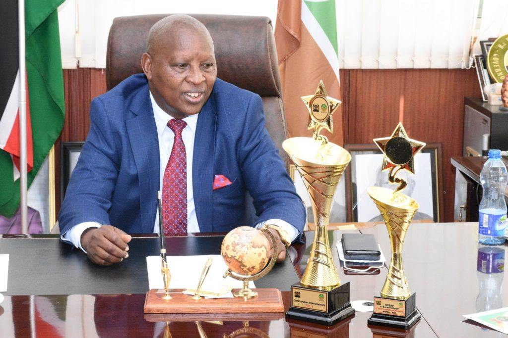 Nyeri Governor KSCAP trophies