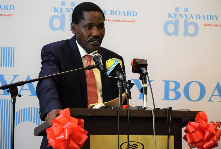 CS Munya launching the dairy regulations 2021