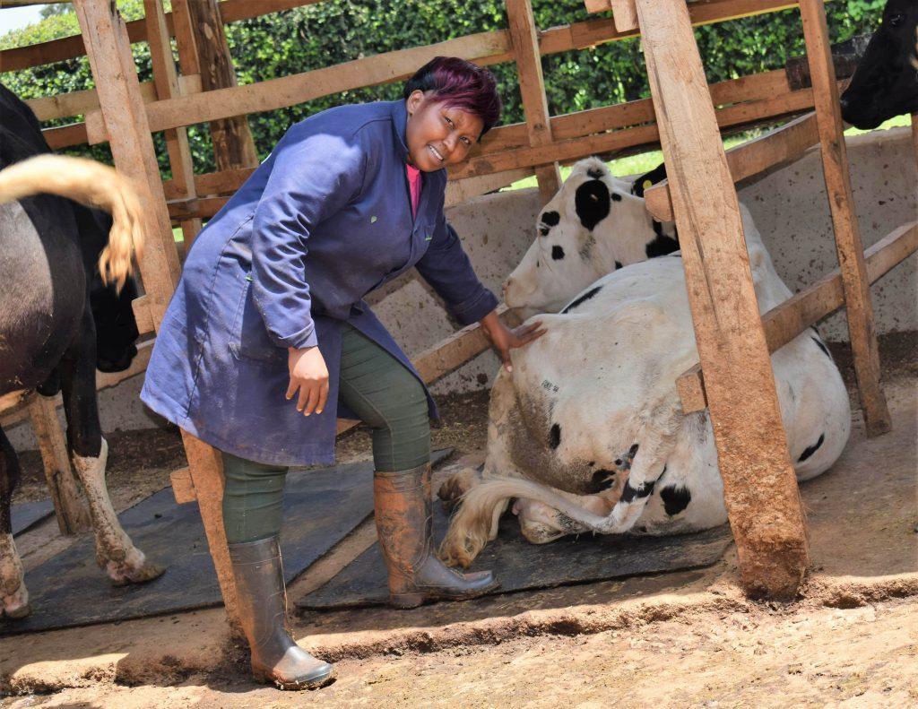 Winnie Wambugu at JJ farm in Nyeri County