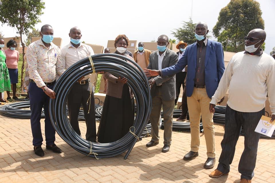 Receiving irrigation kits Elgeyo Marakwet