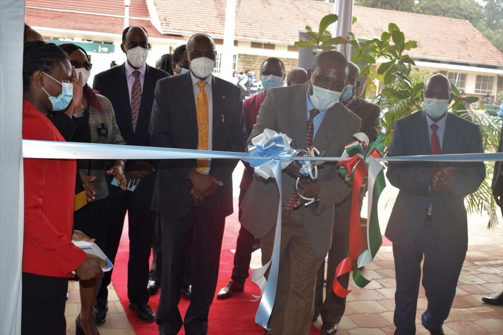 KU Coffee House opening by Agriculture CAS Lawrence Omuhaka