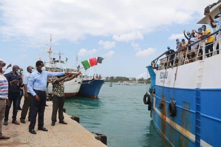 Munya flags off fishing vessels